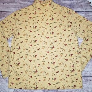 Croft and barrow womens falling leaves sweater